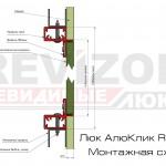Люк АлюКлик Revizor. Монтажная схема