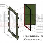 Люк Дверь Revizor. Сборочная схема