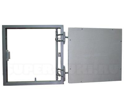 ИКС-ЛЮК с пружинными замками нажимной сдвижной стальной 50*40