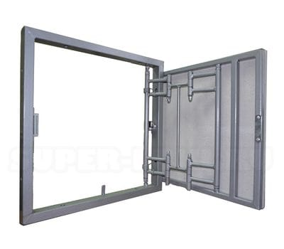 ИКС-ЛЮК® с пружинными замками, нажимной сдвижной, стальной 50*40