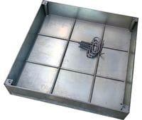 Напольный люк DRAGO под брусчатку 400x400 оцинкованный