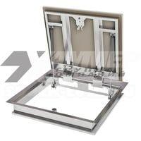 Напольный ревизионный люк 800*800 модели «Бонд» ПФ ХАММЕР стальной с амортизаторами