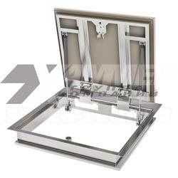 Напольный ревизионный люк Бонд ПФ ХАММЕР стальной с амортизаторами
