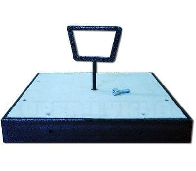 Стальной напольный съемный люк ФОРМАТ 450*450