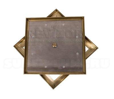 Напольный люк съемный Латунь 500x500