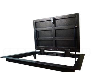 Напольный люк с амортизаторами ПФ Шаркон модель STELS 900*700
