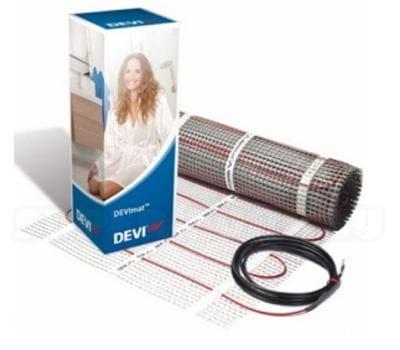 теплый пол DEVI DTIR-150-8 м2, теплый пол, нагревательный мат, двужильный теплый пол, теплый пол в квартире, теплый пол под плитку, теплый пол своими руками