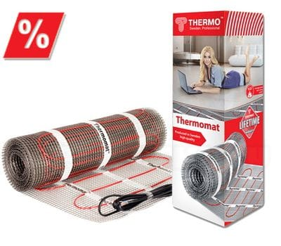 Теплый пол Thermomat TVK-180-8 м2, теплый пол, нагревательный мат, двужильный теплый пол, теплый пол в квартире, теплый пол под плитку, теплый пол своими руками