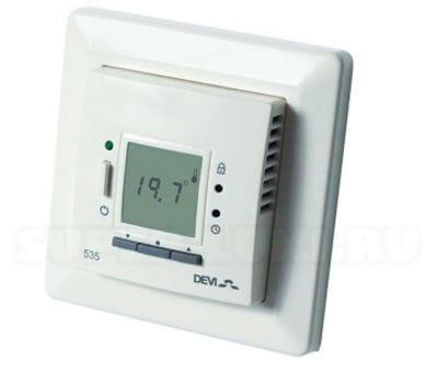 терморегулятор программируемый, терморегуляторы devi, терморегуляторы деви, программируемые терморегуляторы, Д-535