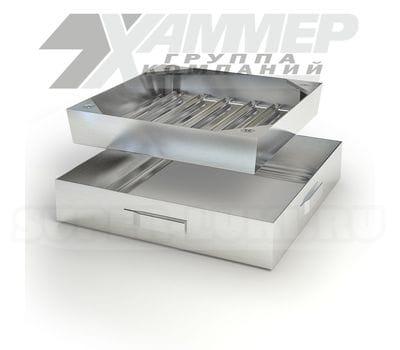 Напольный люк Хаммер модель ТЕХНИК 800x800