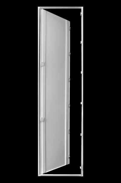 Усиленный сантехнический люк с нажимными замками в открытом виде